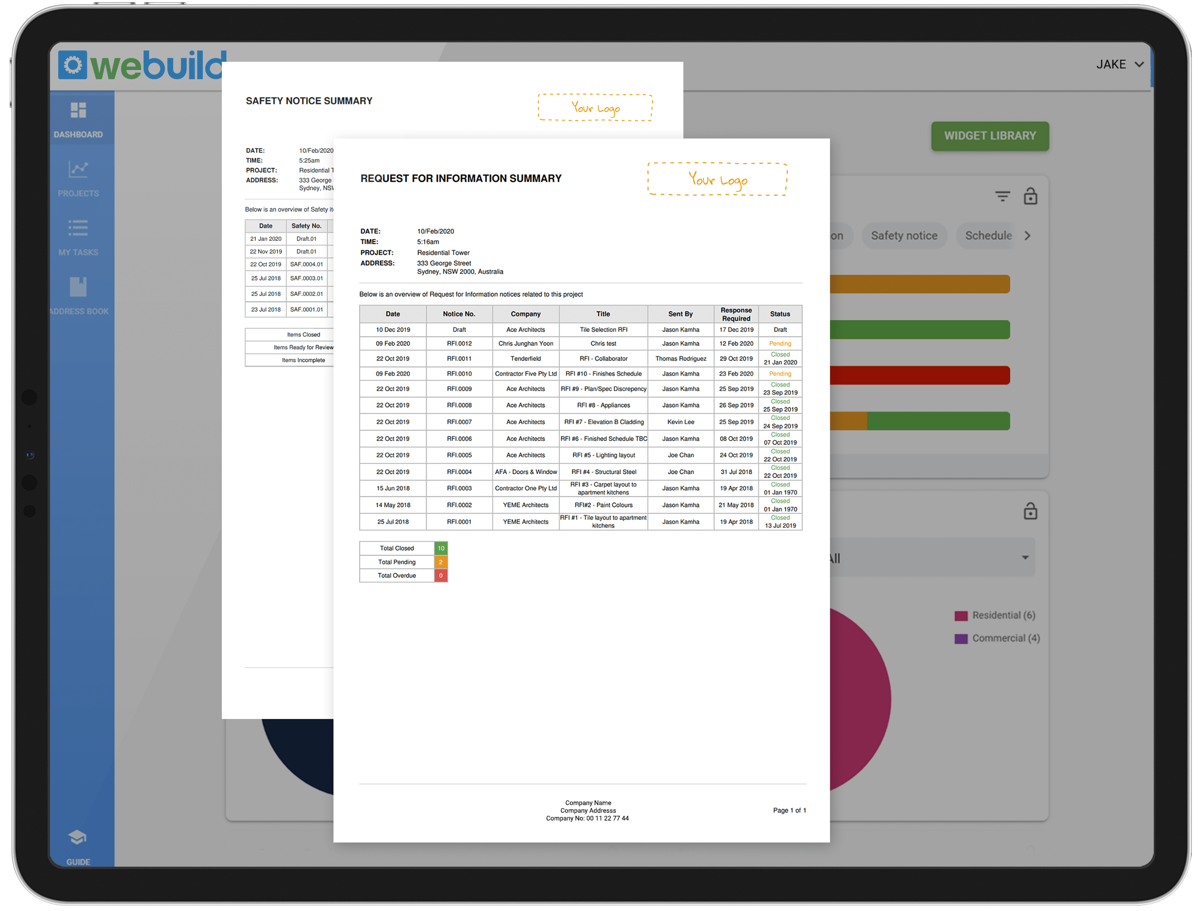 Construction branded reports AU