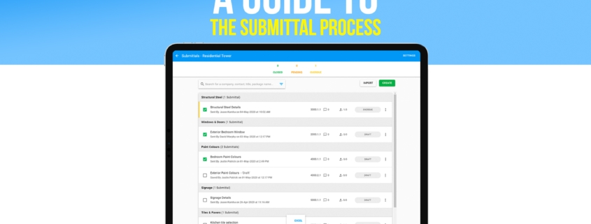 A guide to the construction submittal process