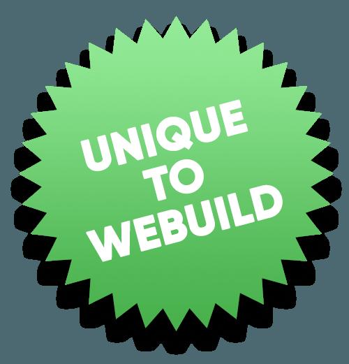 unique to webuild sticker
